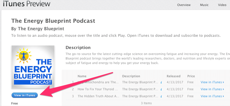Launching the energy blueprint podcast free book giveaway plus screenshot 2 malvernweather Choice Image