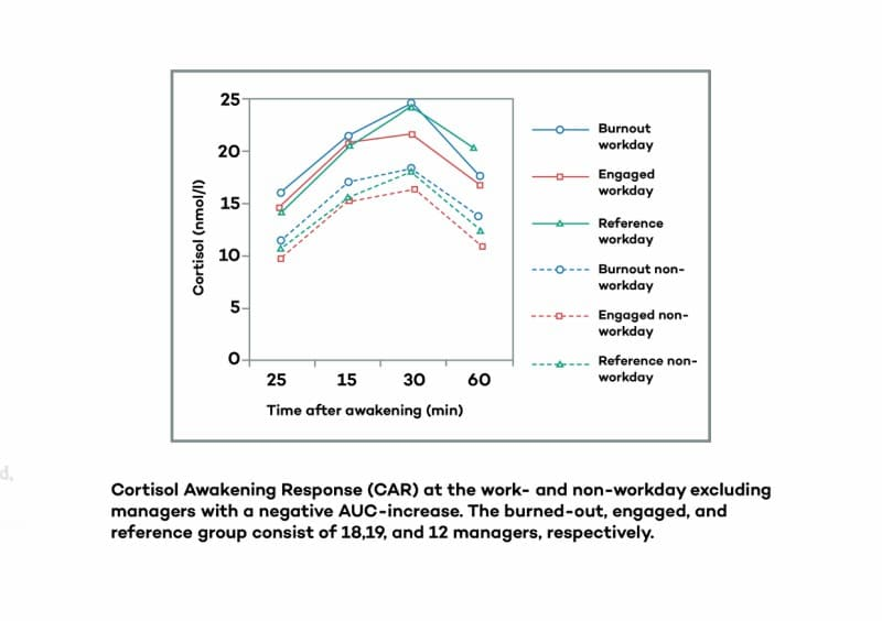 Cortisol Awakening Response CAR at the workplace Graph │ Is Adrenal Fatigue Real?, theenergyblueprint.com