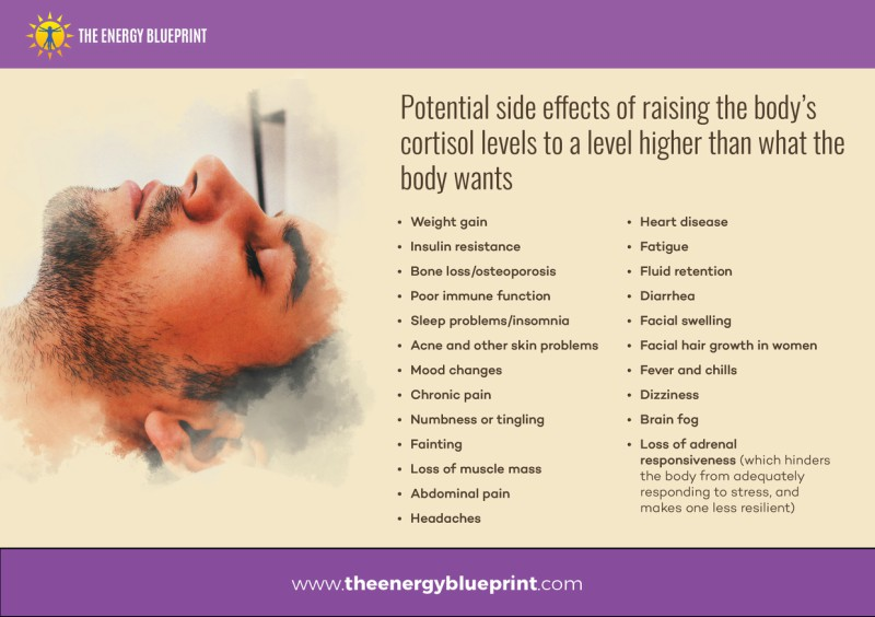 Potential Side Effects Of Raising THe Body's Cortisol Levels │ Is Adrenal Fatigue Real, theenergyblueprint.com