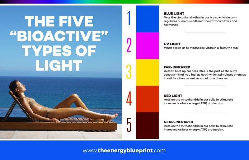 """The Five """"Bioactive"""" Types of Light - red light therapy"""
