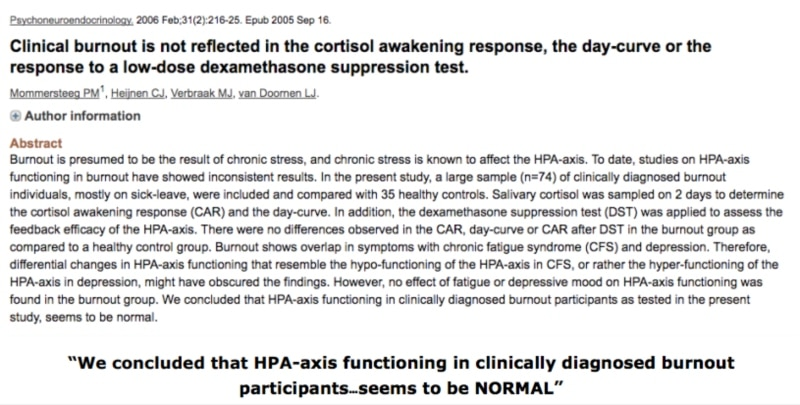 """Study 3 - Clinical burnout is not reflected in the cortisol awakening response the day-curve or the response to a low-dose dexamethasone sup│ The Hidden Truth About What Causes Low Cortisol Levels (The Real Causes of """"Adrenal Fatigue"""") – Plus Secrets of Healing """"Adrenal Fatigue"""", and How To Treat """"Adrenal Fatigue"""" The Right Way │ low cortisol levels │ Adrenal fatigue treatment │ what causes adrenal fatigue │How to cure adrenal fatigue, theenergyblueprint.com"""