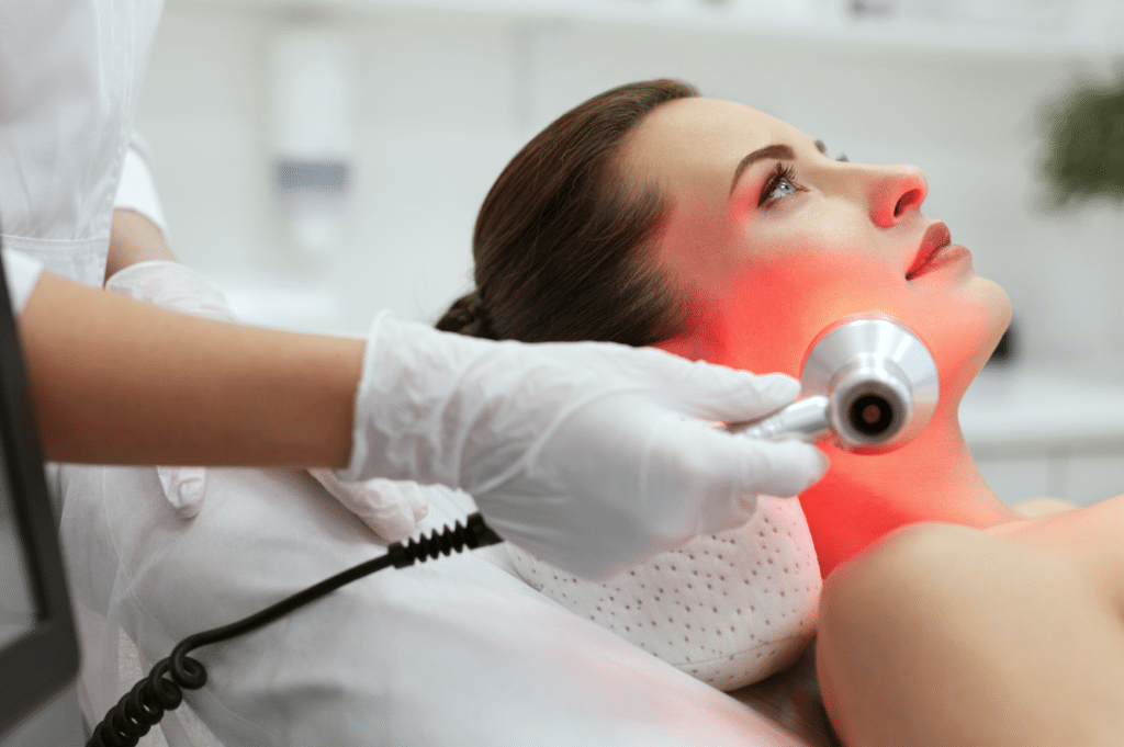 Face and Red Light Therapy
